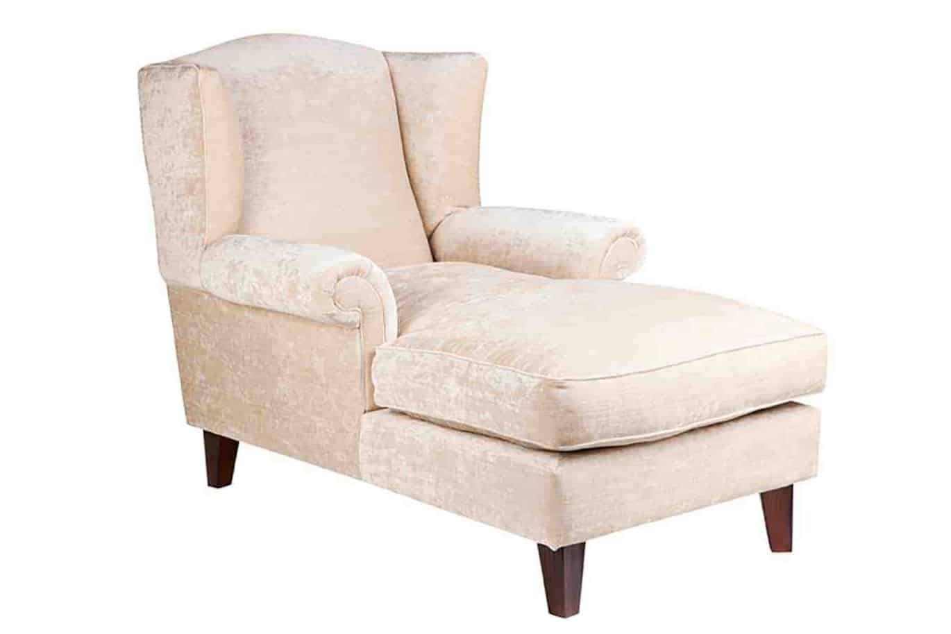Chaise lounge - Designer Chair - Accent chair - Boutique Chair - Occasional Chair -Warwick Fabric